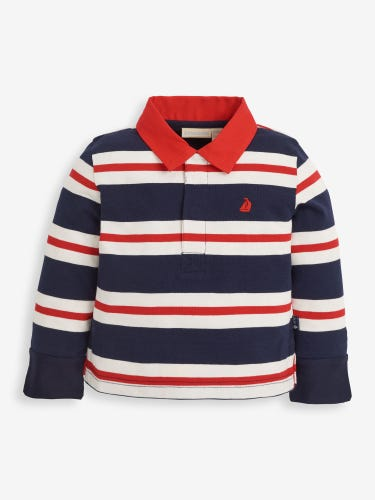 Kids' Red Stripe Rugby Top