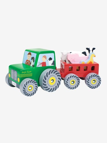 Tractor with Trailer Farm Set