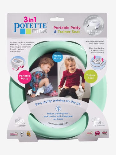 Potette Max Potty & 3 Liners Set Teal