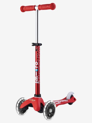 Mini Micro Deluxe LED Scooter Red