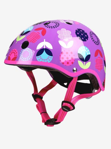Micro Scooters Helmet Deluxe Floral Dot