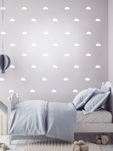 Pom Le Bon Homme White Clouds Wall Stickers