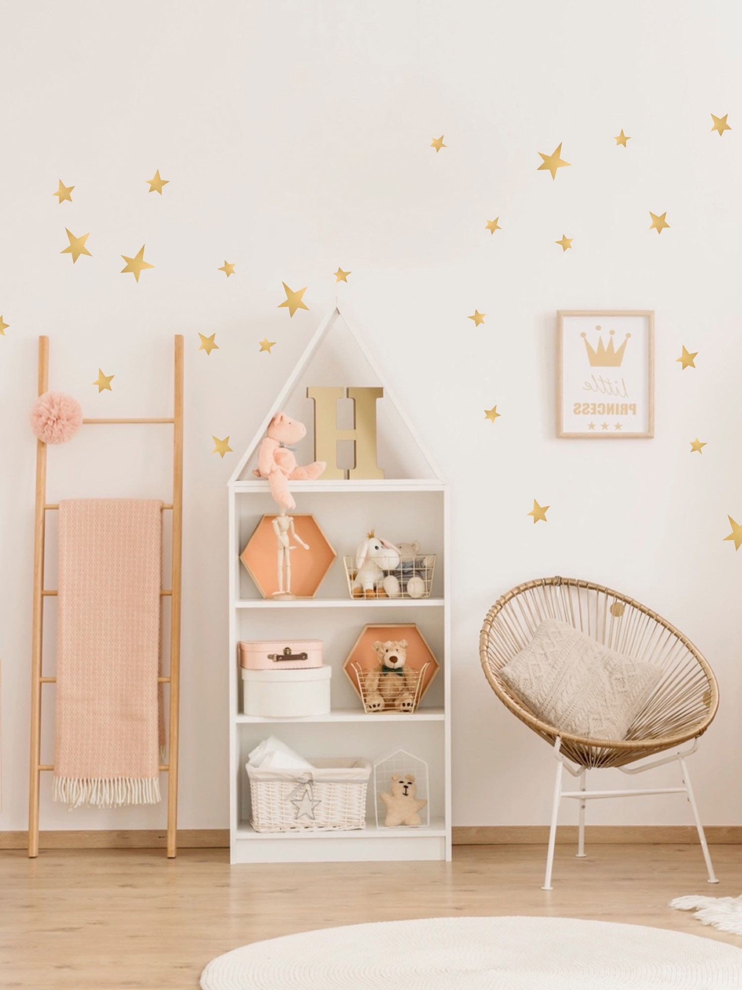 Pom Le Bon Homme Gold Stars Wall Stickers