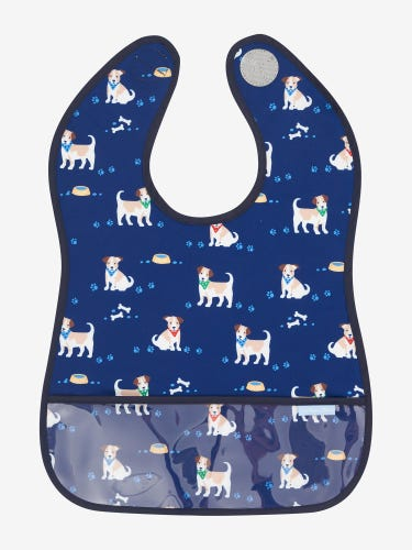 Dog Print Deluxe Sleeveless Bib