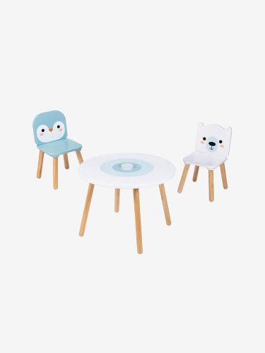 Janod Table with Penguin & Polar Bear Chairs