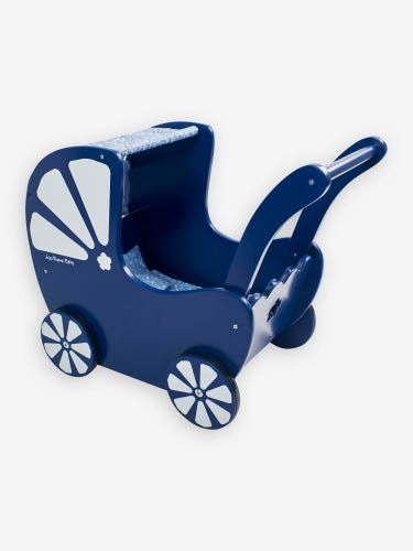 Blue Push-Along Toy Pram