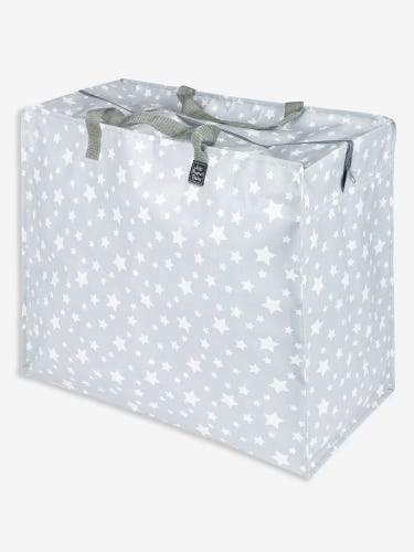 Grey Star Print Enormous Storage Bag