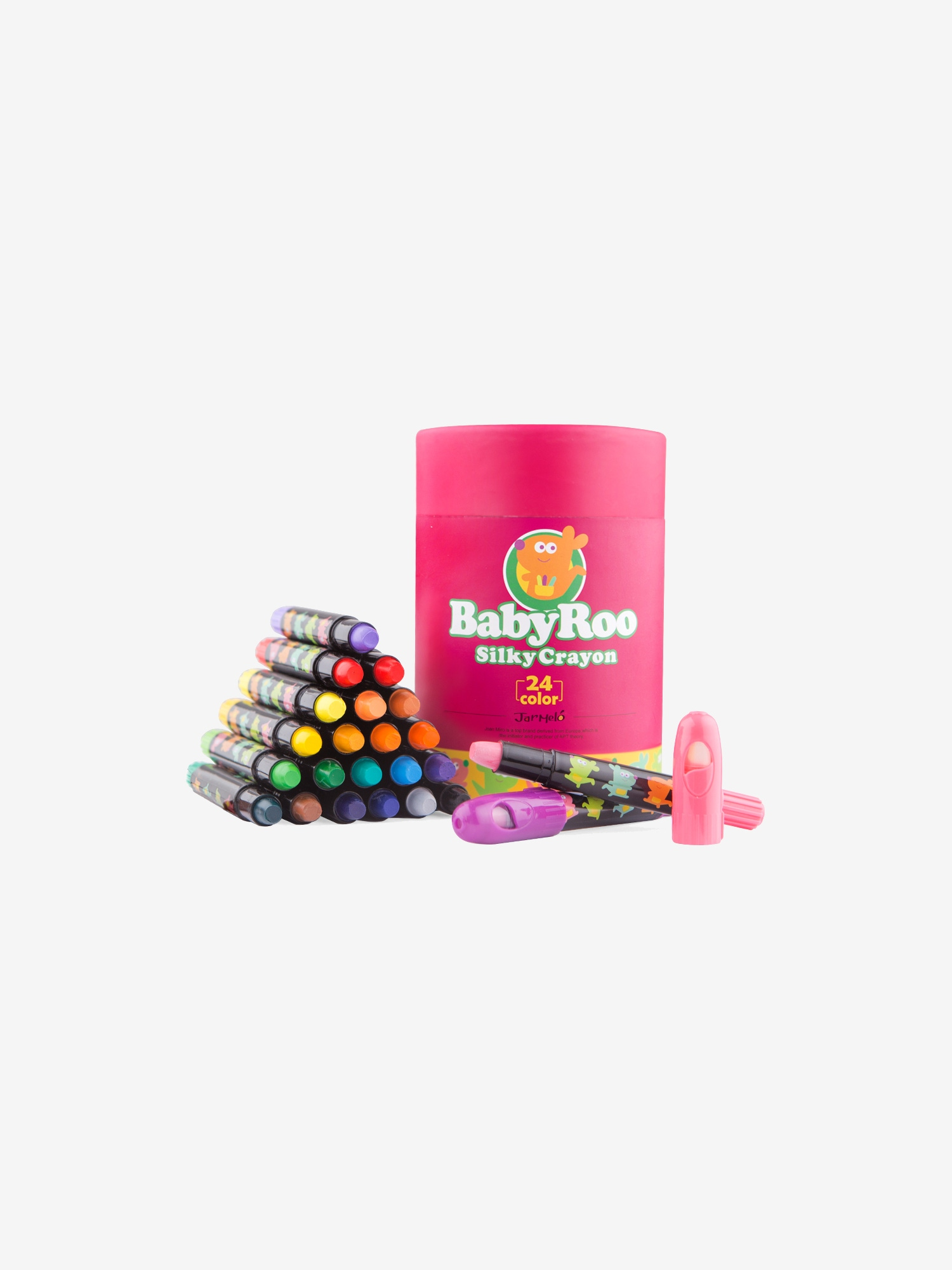 Jar Melo Silky Washable Crayons Baby Roo 24 Colours