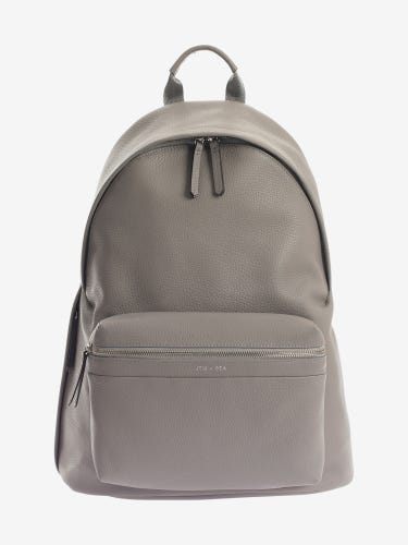 Jem + Bea Jamie Leather Changing Backpack Grey
