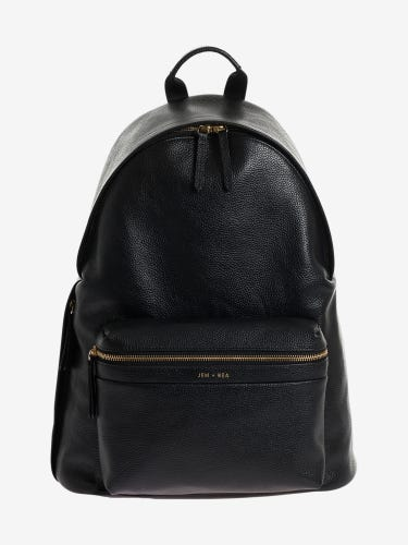 Jem + Bea Jamie Leather Changing Backpack Black