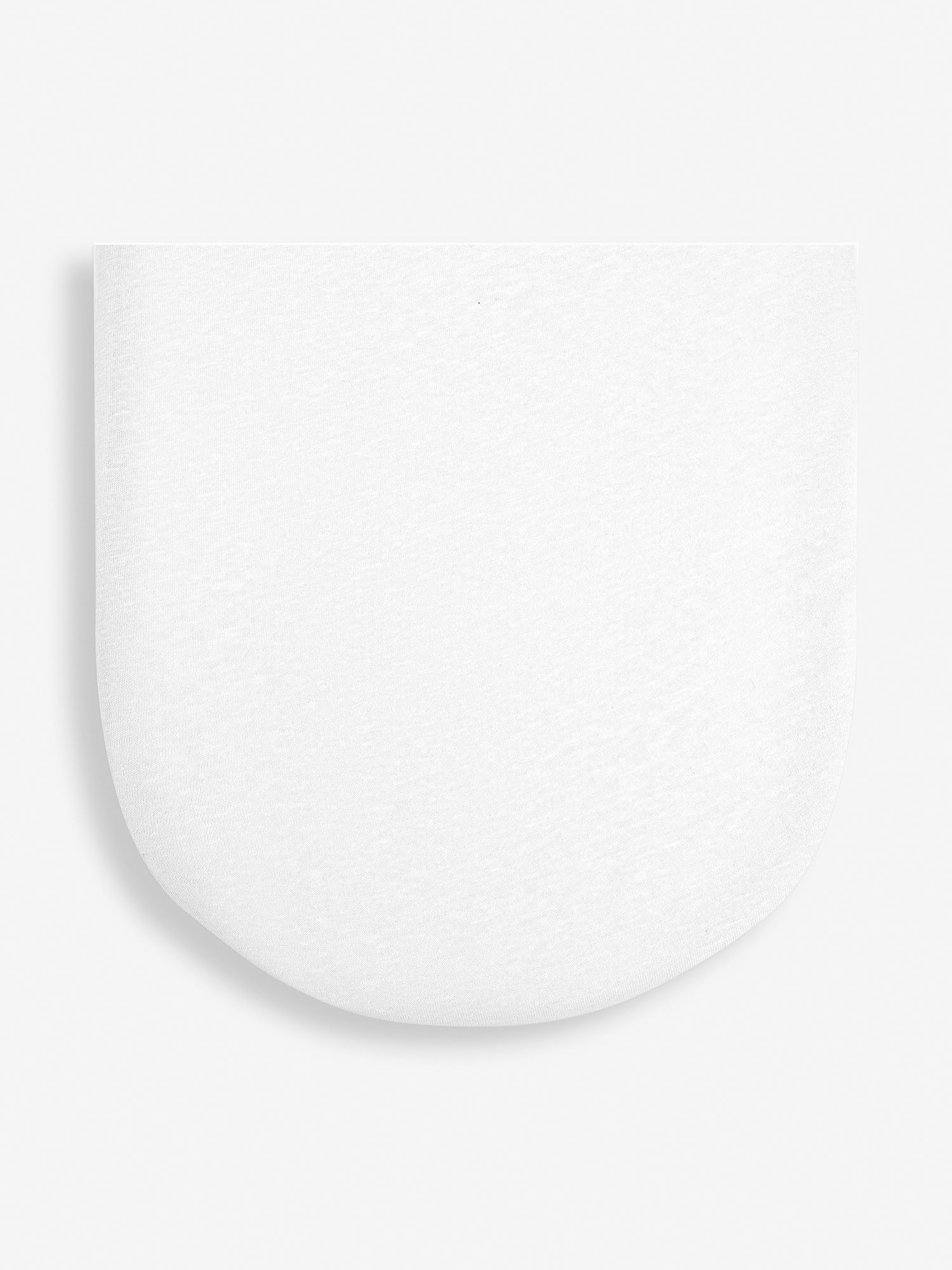 The Little Green Sheep Organic Moses Basket Fitted Sheet White Jersey