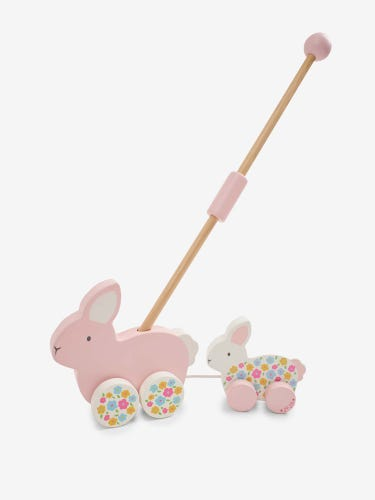 Bunny Push-Along Toy With Handle