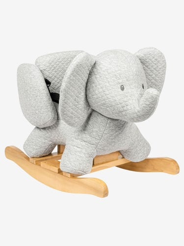 Nattou Tembo Cotton Elephant Rocker