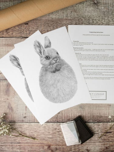 Lucy Coggle Baby Bunny Footprint Kit
