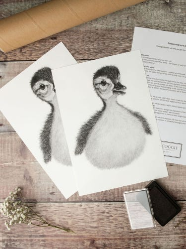 Lucy Coggle Baby Duck Footprint Kit
