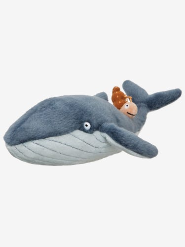 Aurora The Snail and The Whale Plush Toy