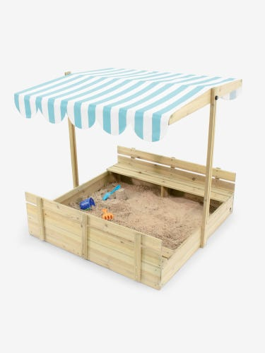 Plum Sandpit with Canopy