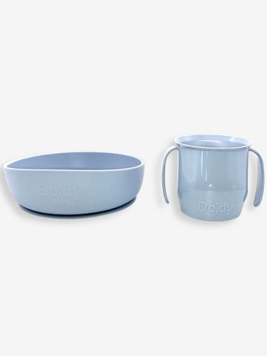 Doidy Cup & Bowl Gift Pack - Warm Grey