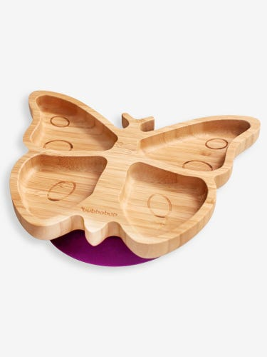 Bubbaboo Bamboo Butterfly Plate Violet