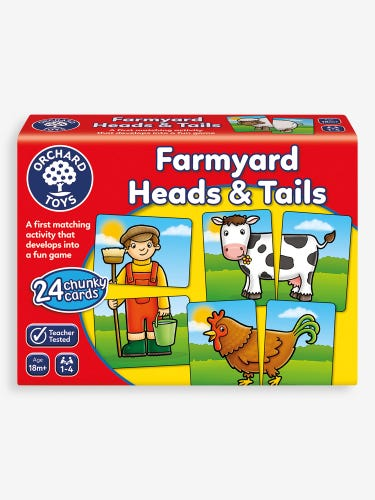 Orchard Toys Farmyard Heads and Tails Matching Game