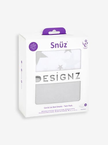 Snuz Cot Fitted Sheets Star 2-Pack