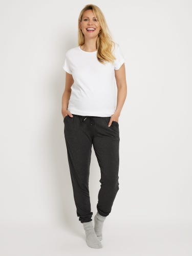 Charcoal Jersey Maternity Joggers