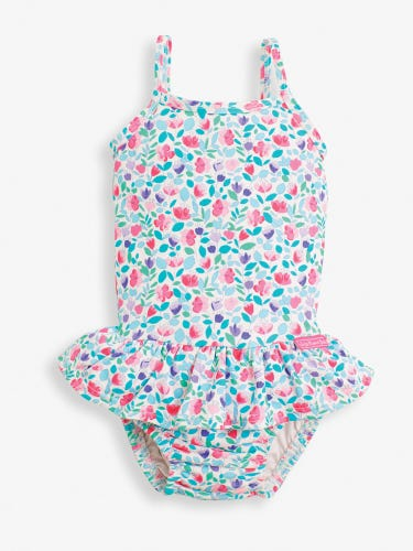 Girls' Swimsuit with Nappy