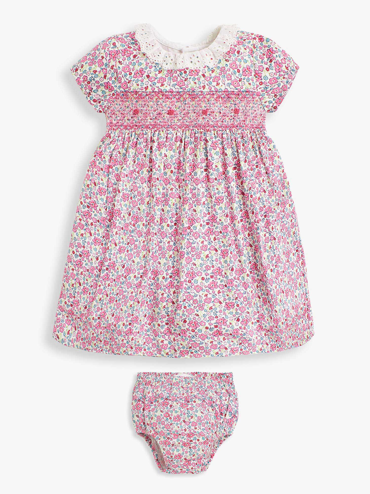 Girls' Floral Frill Collar Party Dress