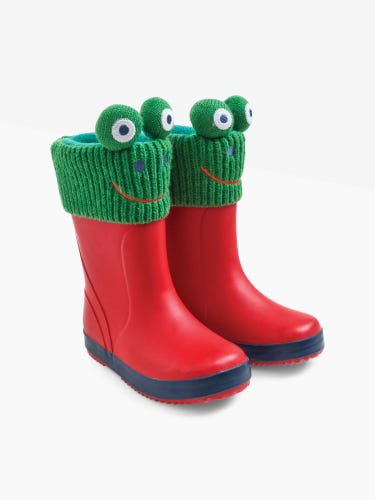 Frog Knitted Wellie Liners