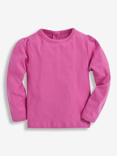 Girls' Pretty Round Neck Top