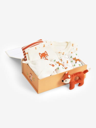 New Baby Luxury Fox Gift Set 0-3 Months
