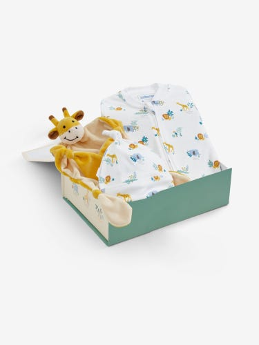 New Baby Safari Animals Gift Set 0-3 Months
