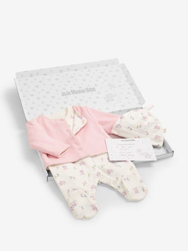 Bunny Jacket Letter Box Baby Gift Set 0-3 Months