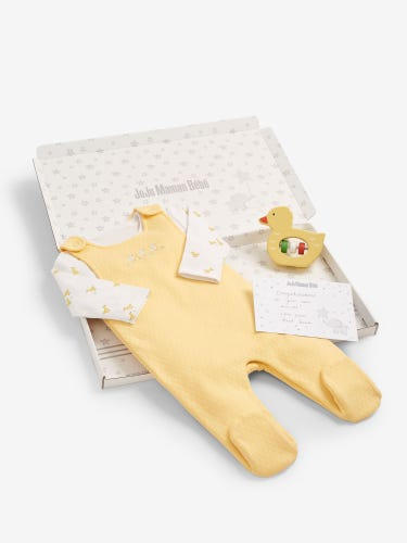 Duck Dungarees Letter Box Baby Gift Set 0-3 Months