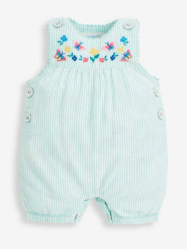 Green Pretty Butterfly Dungarees
