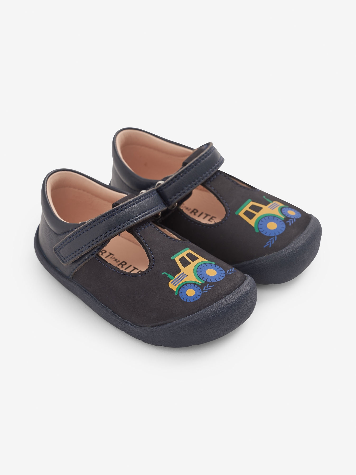 Start-Rite Navy Tractor First Steps Shoes