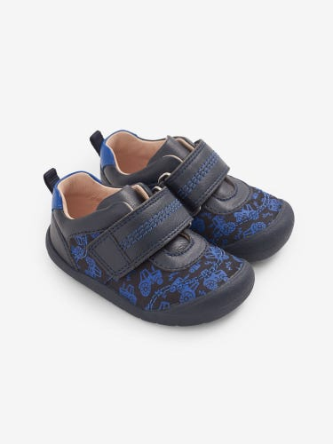 Start-Rite Navy Tractor Shoes