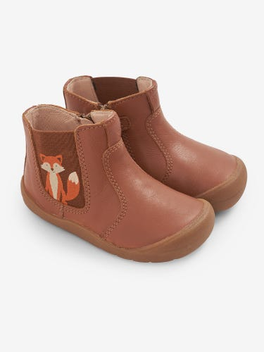 Start-Rite Brown Fox Leather Boots