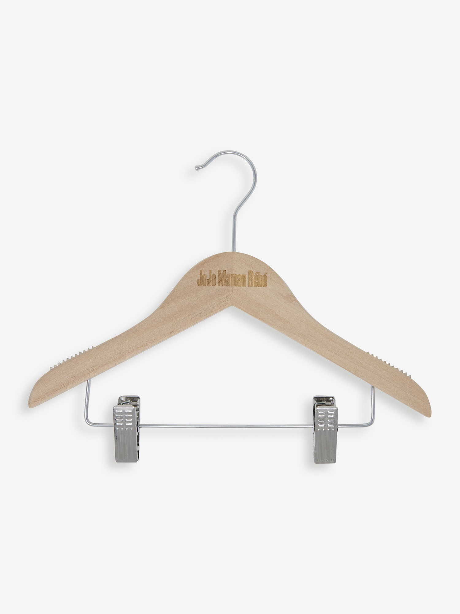 Set of 12 Kids' Size Wooden Hangers