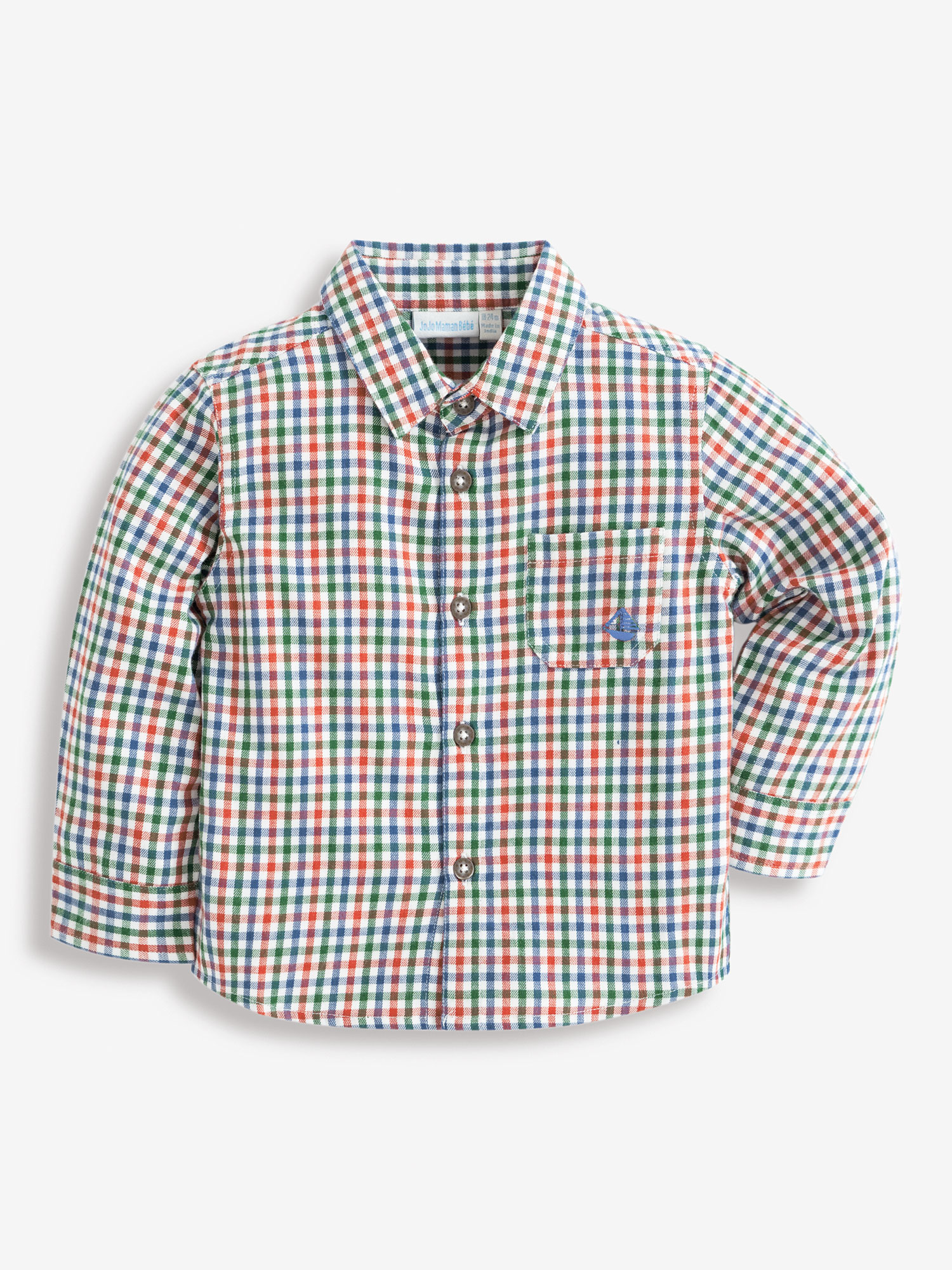 Boys' Green & Russet Check Shirt