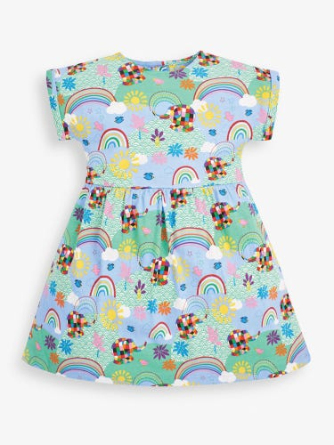Girls' Elmer Print Jersey Dress