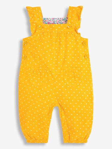 Pretty Dotty Print Cord Baby Dungarees