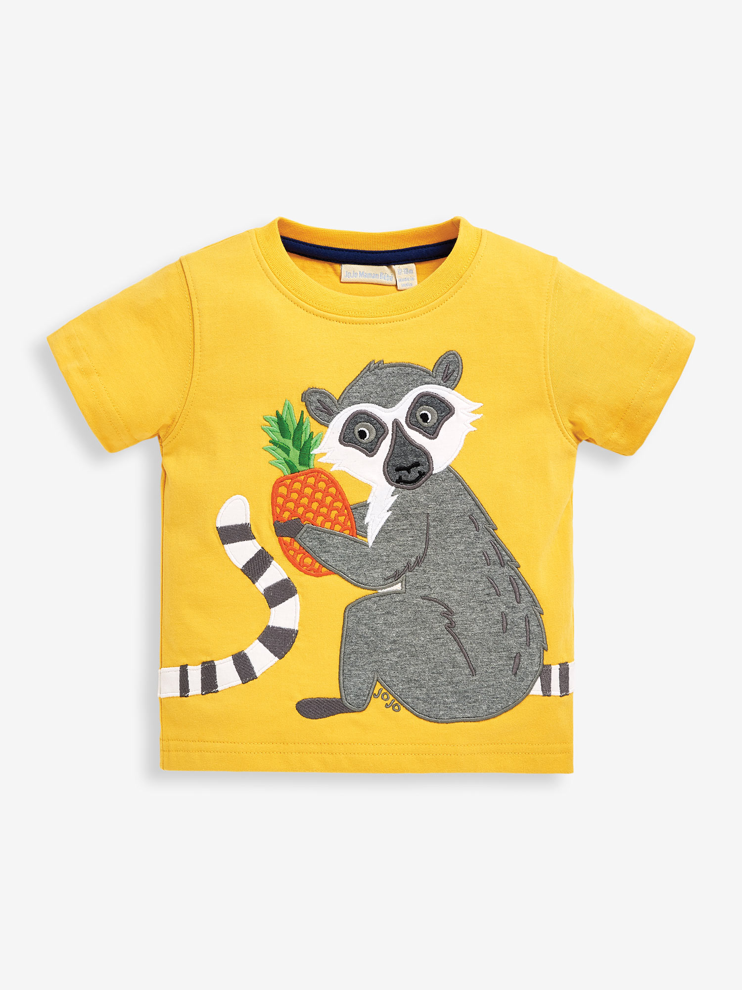 Kids' Mustard Lemur Applique T-Shirt