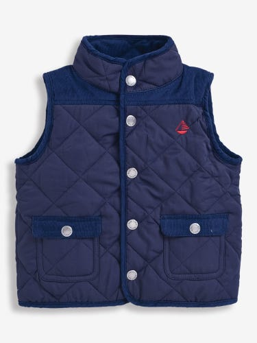 Kids' Navy Quilted Gilet