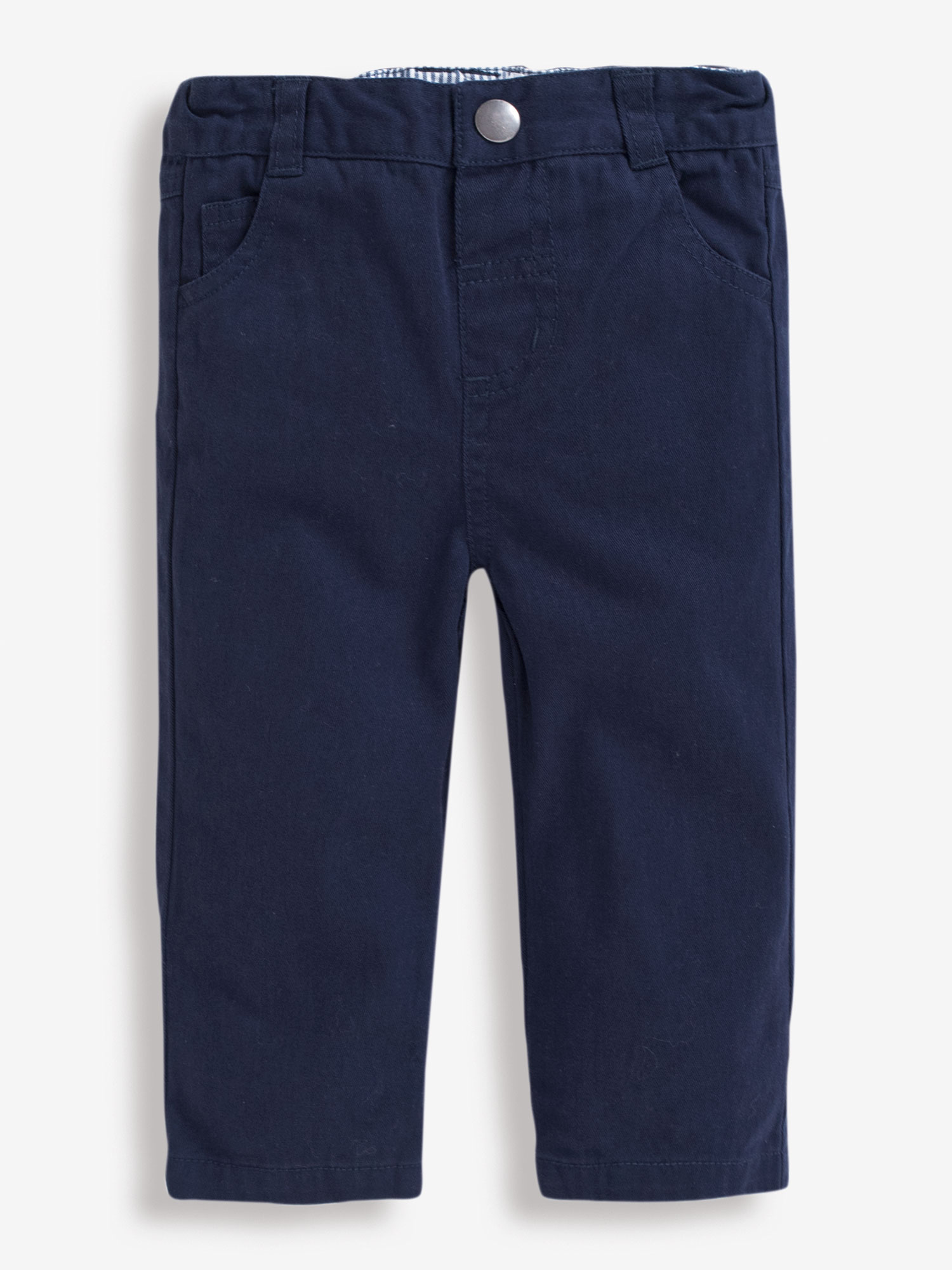 Boys' Navy Straight Leg Twill Trousers