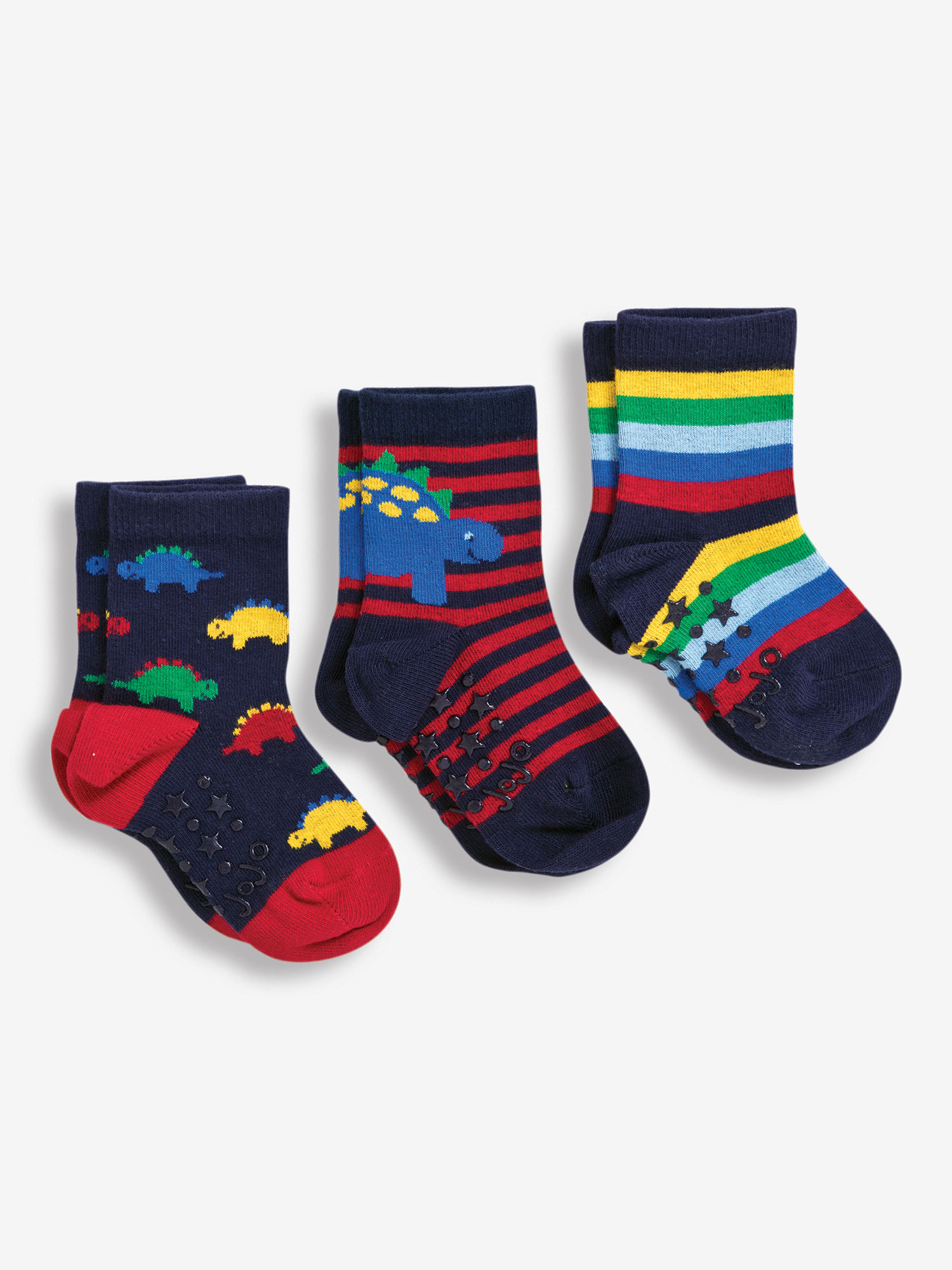 3-Pack Multi Dinosaur Socks