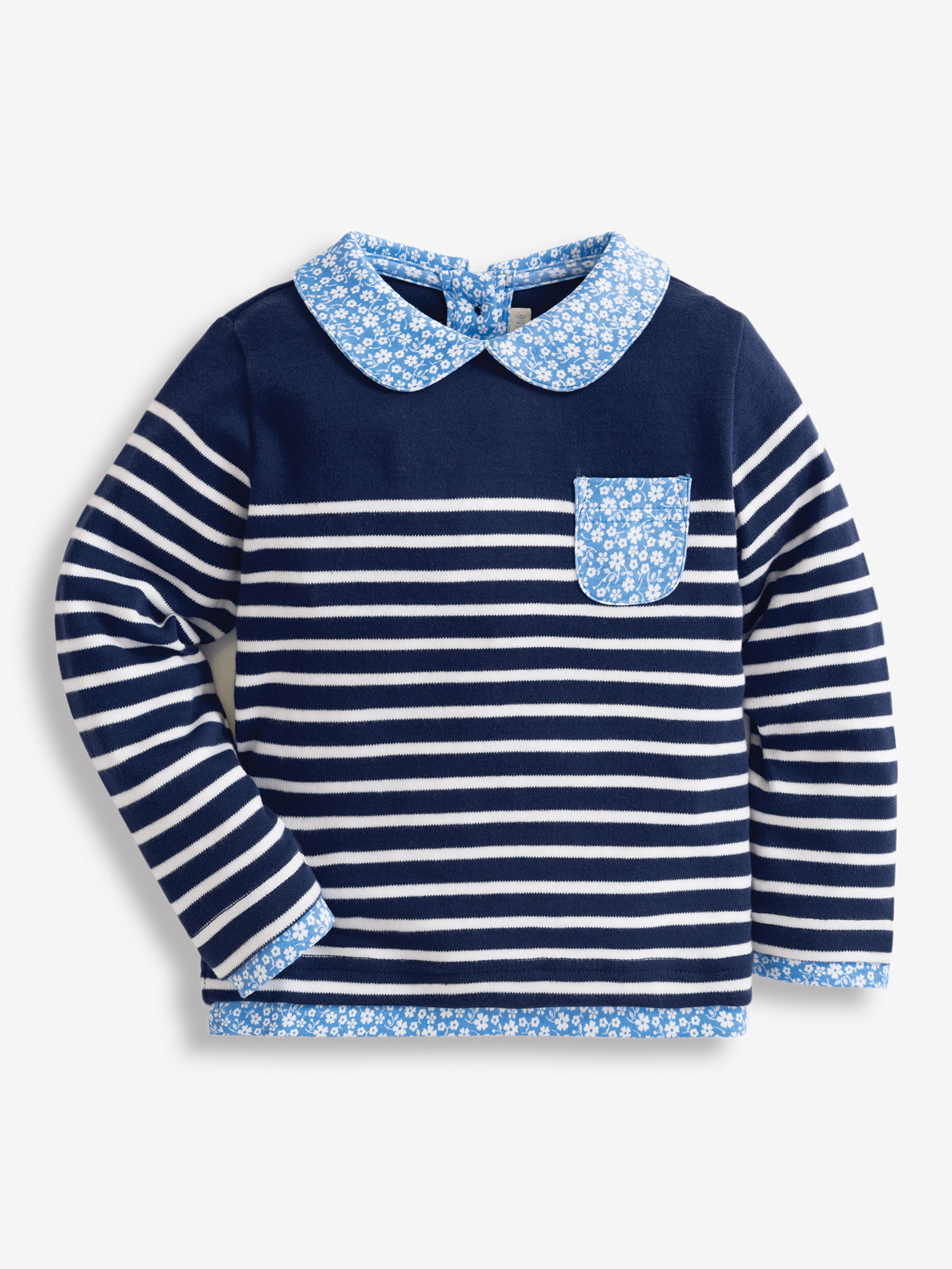 Girls' Floral Breton Top