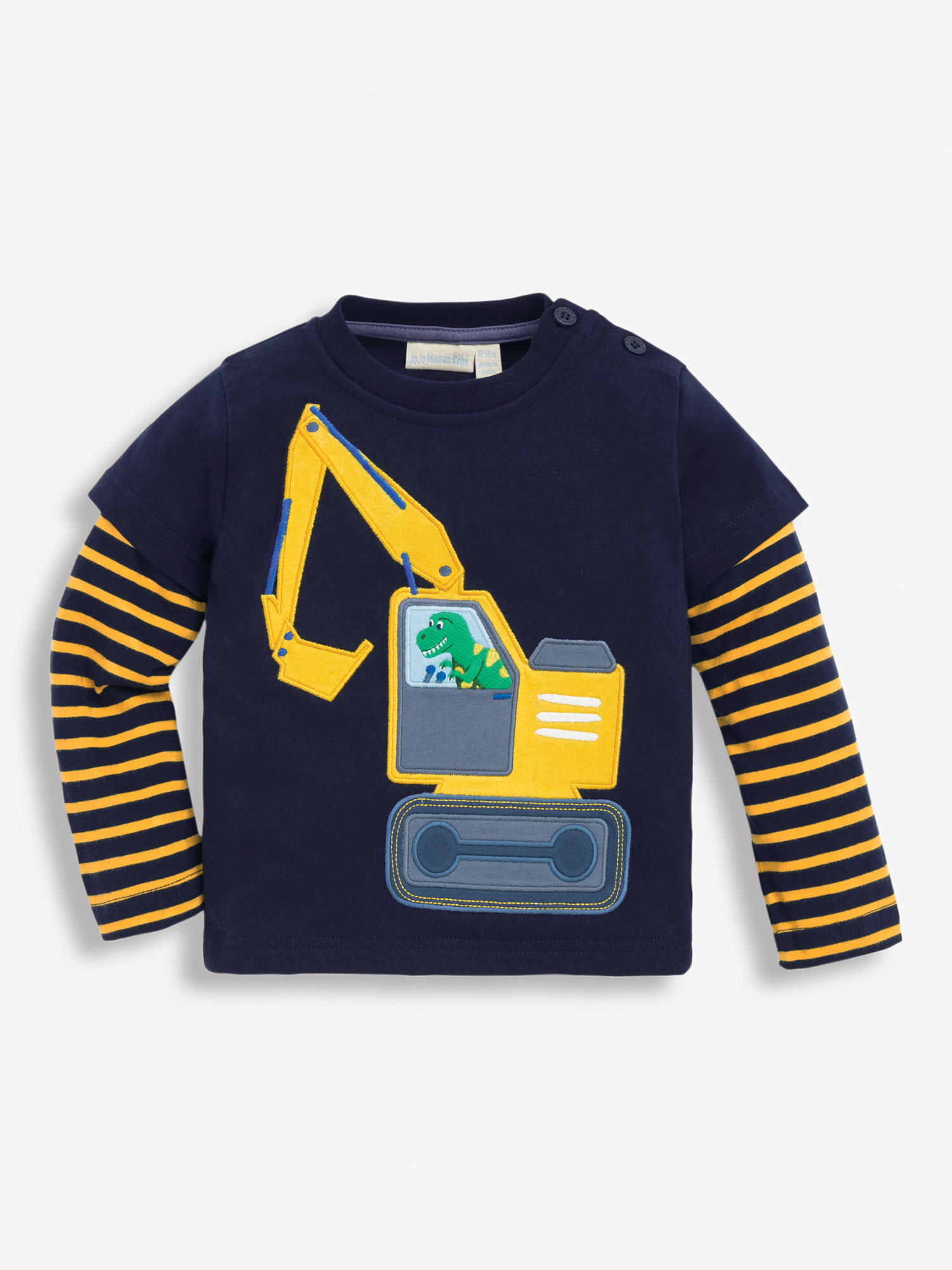 Kids' Navy Dinosaur Digger Top