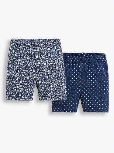 2-Pack Girls' Navy Floral Shorts