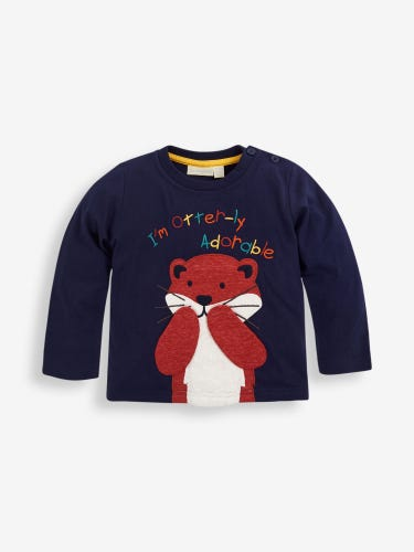 Kids' Navy Otter-ly Adorable Top
